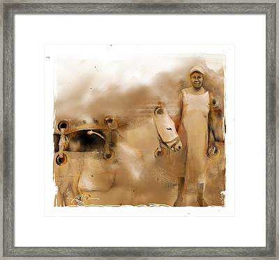 The Mule Skinner Framed Print by Bob Salo