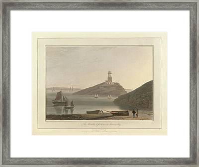 The Mumbles Lighthouse In Swansea Bay Framed Print by British Library