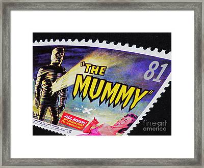 The Mummy Postage Stamp Print Framed Print
