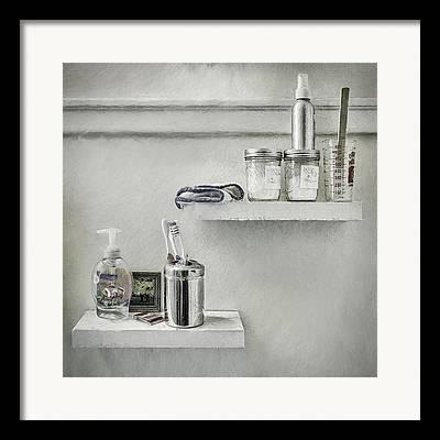 Mason Jars Digital Art Framed Prints