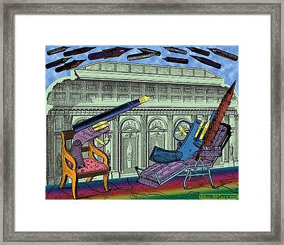 The Munitions Lounge Framed Print