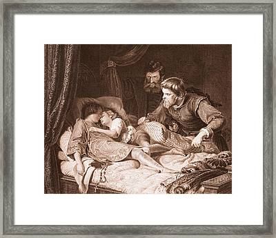 The Murder Of The Princes In The Tower Framed Print