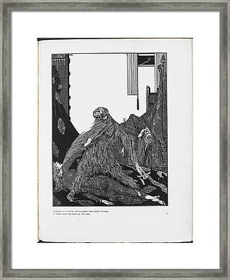 The Murders In The Rue Morgue Framed Print by British Library