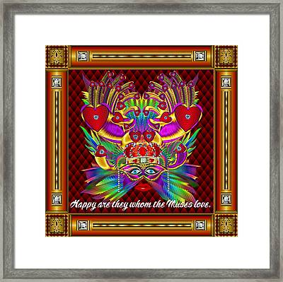The Muse Vector Sample Framed Print