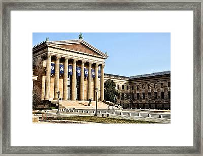 The Museum Of Art In Philadelphia Framed Print by Bill Cannon