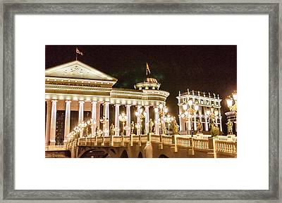 The Museum Of Skopje. Framed Print by Slavica Koceva