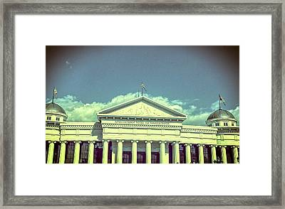 The Museum. Framed Print