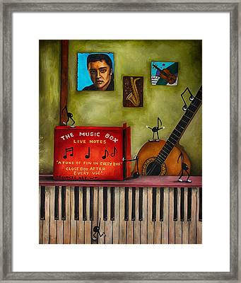 The Music Box Edit 3 Framed Print by Leah Saulnier The Painting Maniac