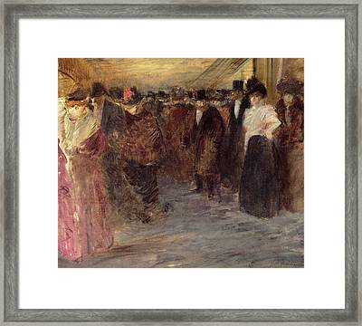 The Music Hall Framed Print by Jean Louis Forain