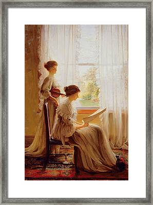 The Music Lesson, C.1890 Framed Print by American School