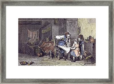 The Music Lesson J Framed Print by English School