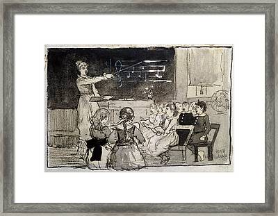 The Music Lesson Framed Print by Celestial Images