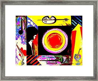 Framed Print featuring the painting The Music Maker by Hazel Holland