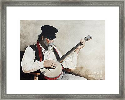 The Music Man Framed Print by Monte Toon