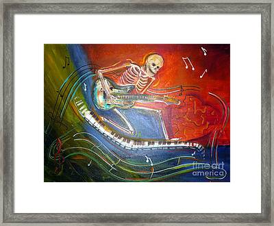 The Music Must Go On Framed Print