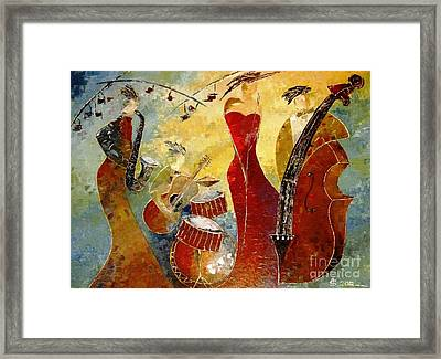 The Music Never Stopped Framed Print