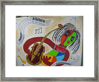 Framed Print featuring the painting The Music Practitioner by Sharyn Winters