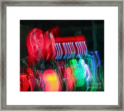 The Music Store Framed Print by Tracey Levine