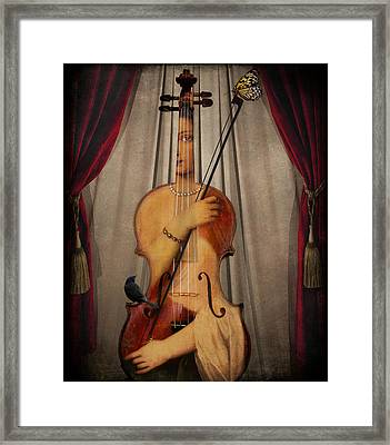 The Musician Framed Print by Marie  Gale