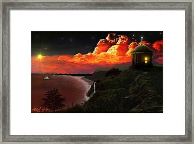 The Mussenden Temple - Ireland Framed Print by Michael Rucker