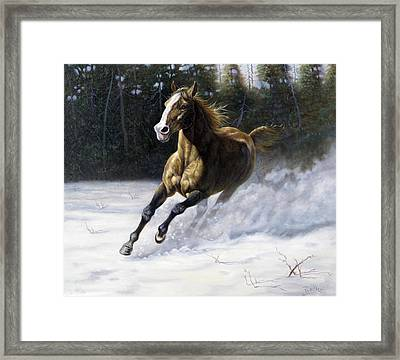 The Mustang Framed Print by Gregory Perillo