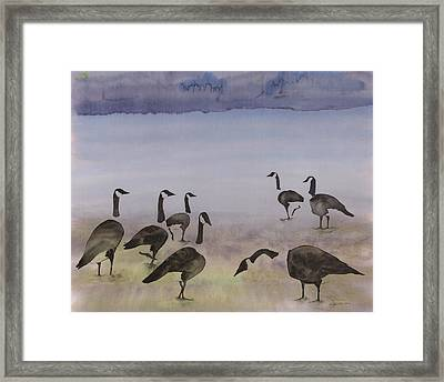 The Mysteries Of Miration 2 Framed Print by Carolyn Doe