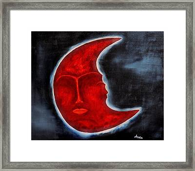 The Mysterious Moon - Original Oil Painting Framed Print