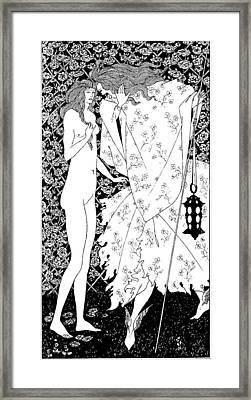 The Mysterious Rose Garden Framed Print by