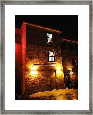 The Mysterious Stranger Upstairs Framed Print by Guy Ricketts