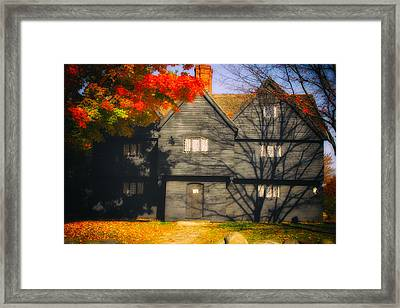 The Mysterious Witch House Of Salem Framed Print by Jeff Folger