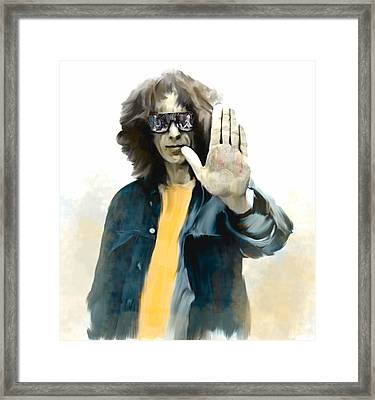 The Mystical One  George Harrison Framed Print by Iconic Images Art Gallery David Pucciarelli
