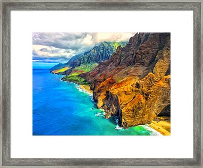 The Na Pali Coast Of Kauai Framed Print by Dominic Piperata