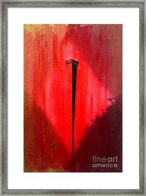 The Nail T D Framed Print by Justin Moore