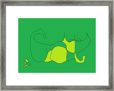 The Name Is Cat Framed Print