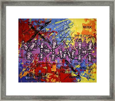The Name Of God Framed Print by Anthony Falbo