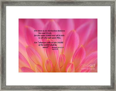 The Name Of The Lord Framed Print by Olivia Hardwicke