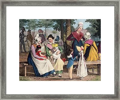 The Nannies, 1820 Colour Litho Framed Print