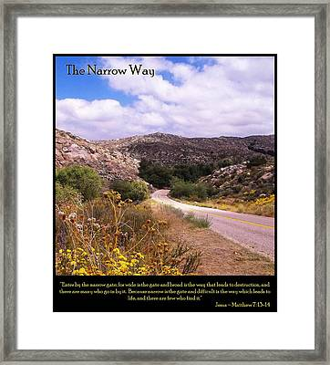 The Narrow Way Framed Print