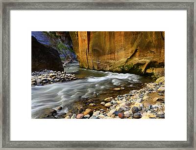 The Narrows Virgin River Zion 1 Framed Print by Bob Christopher
