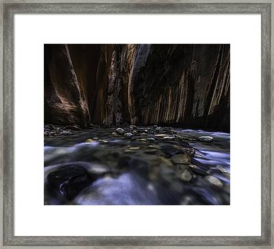 The Narrows At Zion National Park - 2 Framed Print by Larry Marshall