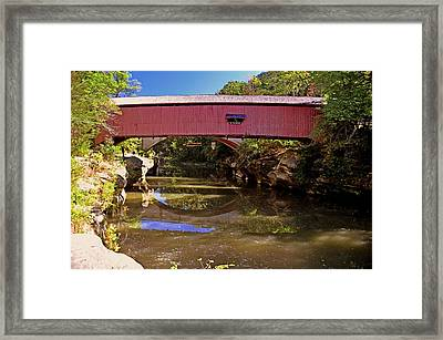 The Narrows Covered Bridge 1 Framed Print