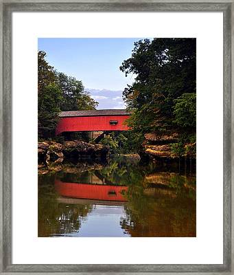 The Narrows Covered Bridge 5 Framed Print