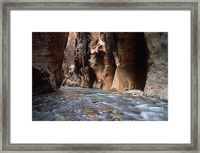 The Narrows Of Zion Canyon Framed Print