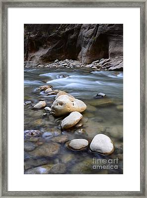 The Narrows One Step At A Time Framed Print by Bob Christopher