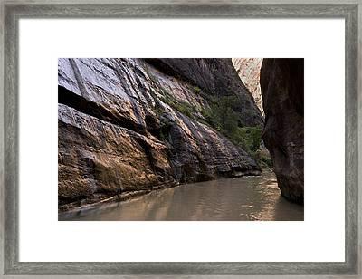 The Narrows, Utah, Usa Framed Print