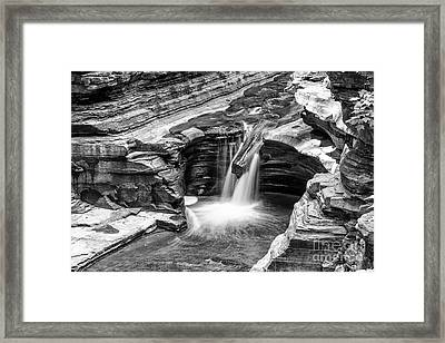 The Narrows Watkins Glen Framed Print