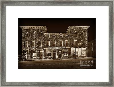 The National Bank Of Davis Wv Framed Print by Dan Friend