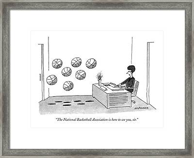The National Basketball Association Is Here Framed Print