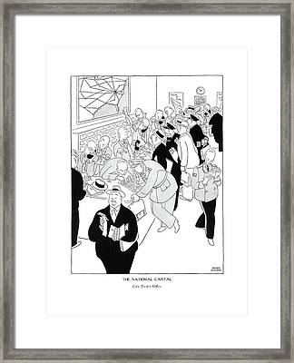 The National Capital City Ticket Of?ce Framed Print