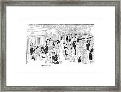 The National Capital Concourse Framed Print by Gluyas Williams